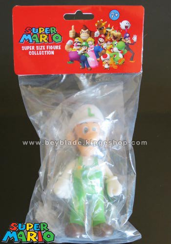 Figurine Nintendo Super Mario Luigi articulée Blanc et Vert - Super Size Figures Collection