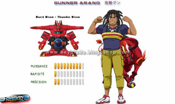 Jouet, figurine B-Daman Crossfire CB-41 Starter Burst Bison - Thunder Bison - バースト=バイソン