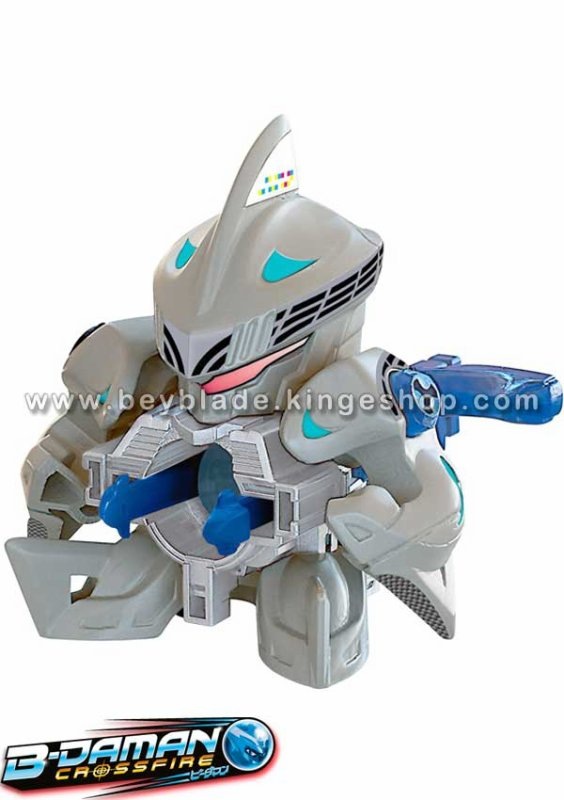 Figurine B-Daman Crossfire CB-02 Starter Lightning Fin One-Sided Sharks - ワンサイド=シャークス