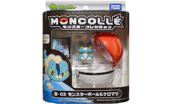 B-03 figurine Pokemon Monsterball Moncollé personnage Grenousse - ケロマツ