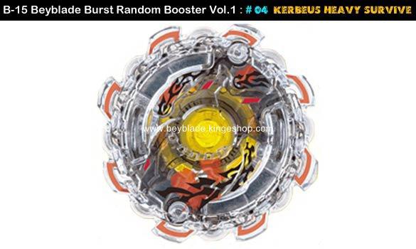 Toupie Beyblade Burst # 04 Kerbeus Heavy Survive du B-15 Random Booster Volume 1 Trident Heavy Claw