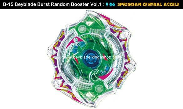 Toupie Beyblade Burst # 06 Spriggan Central Accele du B-15 Random Booster Volume 1 Trident Heavy Claw