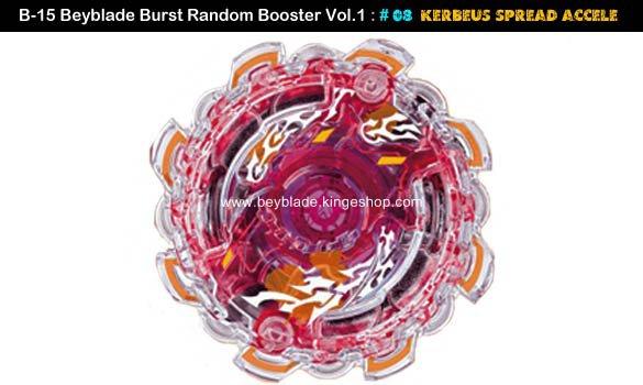 Toupie Beyblade Burst # 08 Kerbeus Spread Accel du B-15 Random Booster Volume 1 Trident Heavy Claw