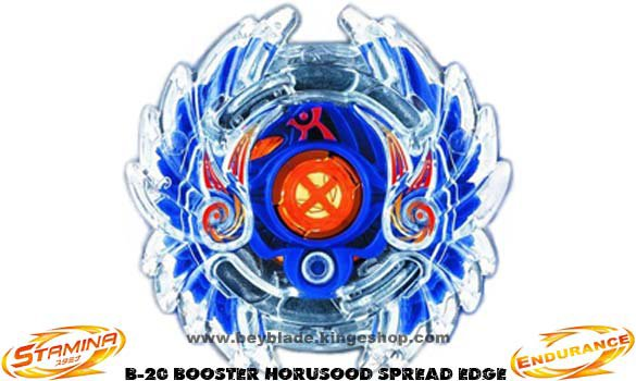 Toupie type Endurance Beyblade Burst B-20 Booster Horusood Spread Edge - Stamina top