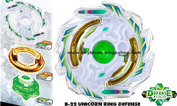B-22 Beyblade Burst Custom Reshuffle Set Stamina & Defense Type