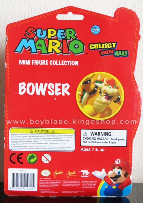 Figurine Vinyl personnage Roi Bowser Koopa - Collection Nintendo Super Mario Action Figure