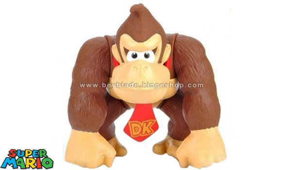 Figurine vinyl articulée personnage Donkey Kong - Collection Nintendo Super Mario Large Action Figure