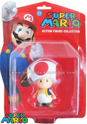 Figurine vinyl personnage Toad le Champignon 9,5 cm - Collection Nintendo Super Mario Action Figure