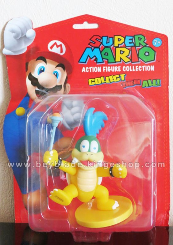 Figurine vinyl sur socle Personnage Larry Cheatsy Koopa - Koopalings - Collection Nintendo Super Mario