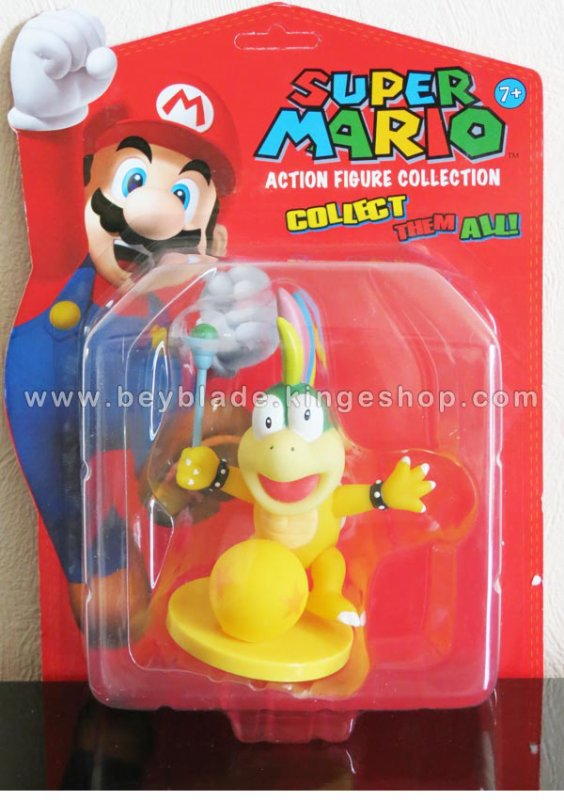 Figurine vinyl sur socle personnage Lemmy Hip Koopa 9 cm - Collection Nintendo Super Mario Action Figure