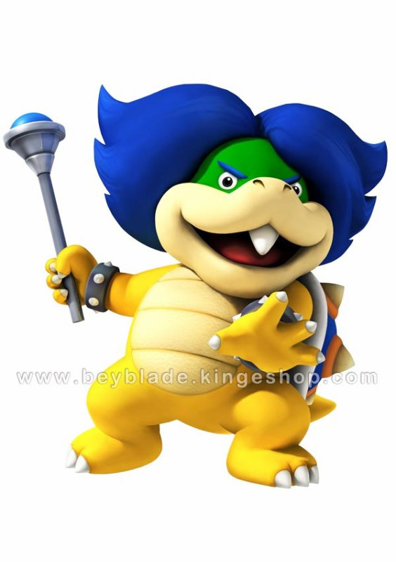 Figurine vinyl Personnage Ludwig Von Koopa 9 cm - Collection Nintendo Super Mario Action Figure