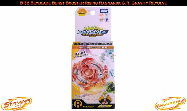 B-36 Toupie Beyblade Burst Booster Rising Ragnaruk G.R. Gravity Revolve - Jouet Takara Tomy