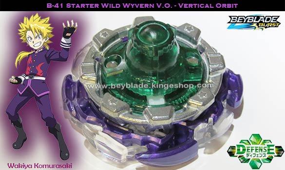 B-41 Toupie Beyblade Burst Starter Wild Wyvern V.O. Vertical Orbit - Jouet Takara Tomy