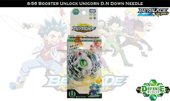 B-56 Toupie Beyblade Burst Booster Unlock Unicorn D.N Down Needle - Jouets Takara Ttomy