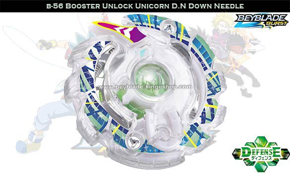 B-56 Toupie Beyblade Burst Booster Unlock Unicorn D.N Down Needle - Jouets Takara Ttomy
