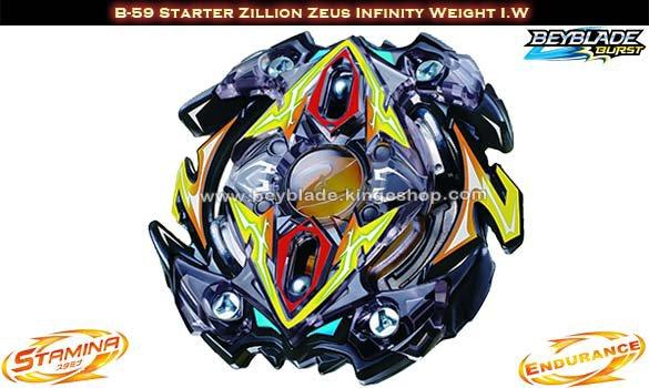B-59 Toupie Beybalde Burst Starter Zillion Zeus Infinity Weight I.W - Jouets Takara Tomy