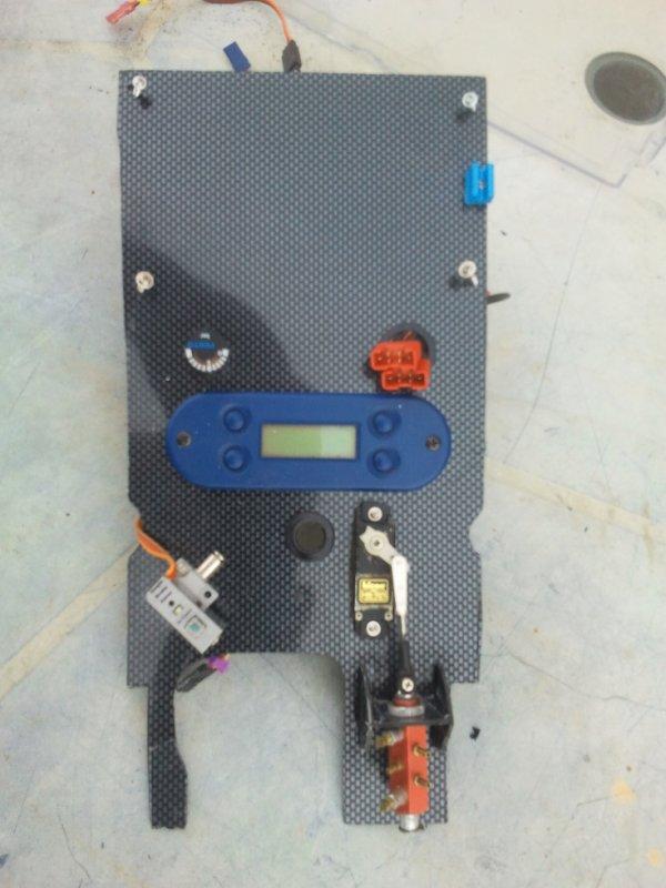 Implantation sur la platine du système de commande d'air comprimé