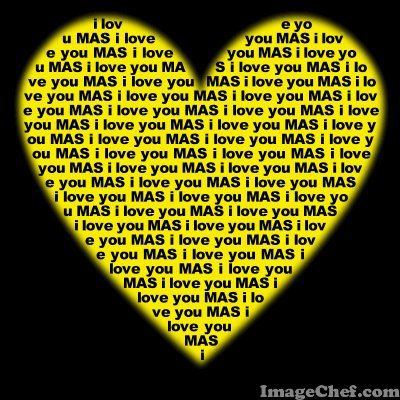 i love you mas