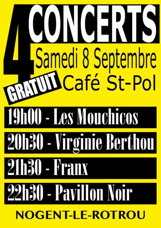 4 Concerts - Samedi 8 septembre