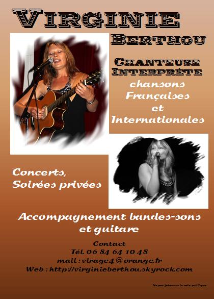 Flyer Chanteuse Interprète