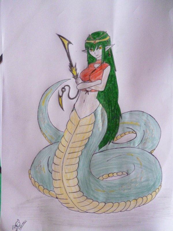 Femme serpent (Mes dessin #8)
