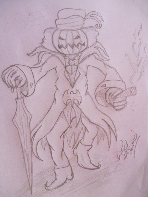 Le roi de citrouilles (dessin #10)