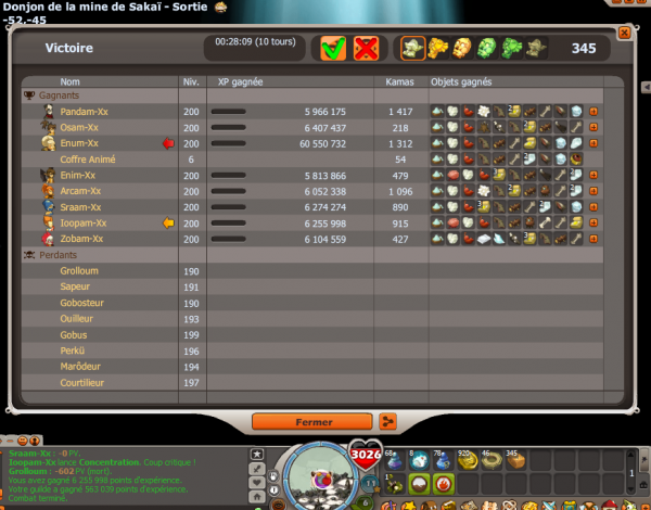 Sakai Score 300+ Challx1 pour bien finir la soirée !