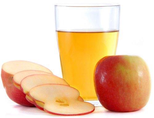 عصير التفاح بالفانيلا