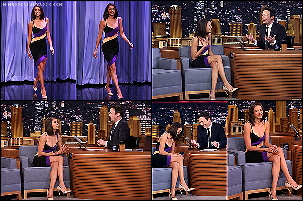 ". 17/01/17 : Nina Dobrev était dans le talk show ""The Tonight Show"" de Jimmy Fallon à New York ! ."