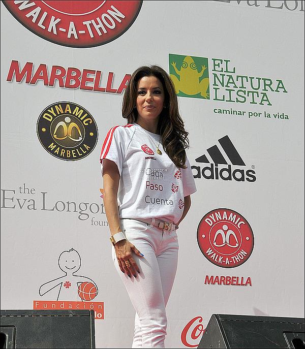 - 18/08/12 : Lors de  « Global Gift Gala »  Eva et son ♥ en or , a ramassée des fonds pour des associations à Marbella. -