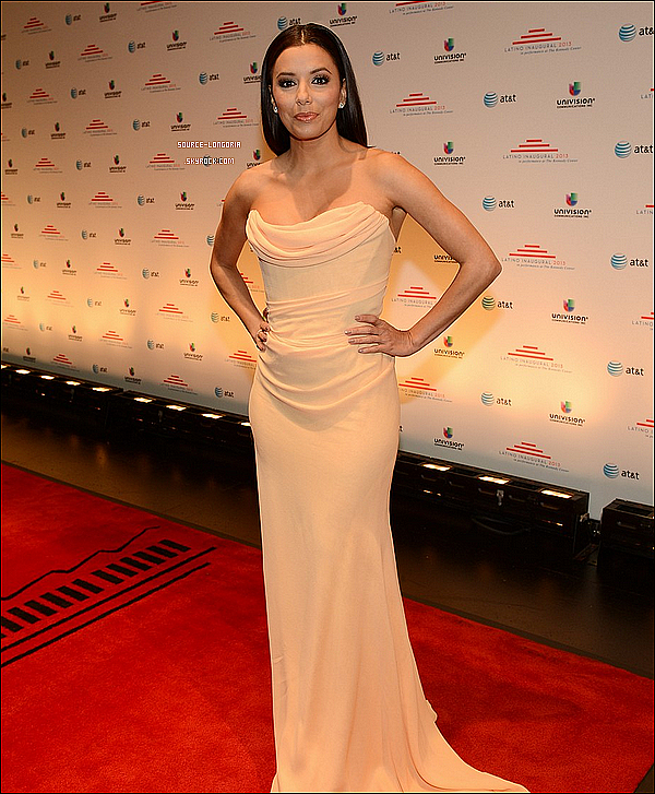 -  20 / 01 / 13 : Eva lors de la soirée Latino Inaugural, organisée au Kennedy Center à Washington. -