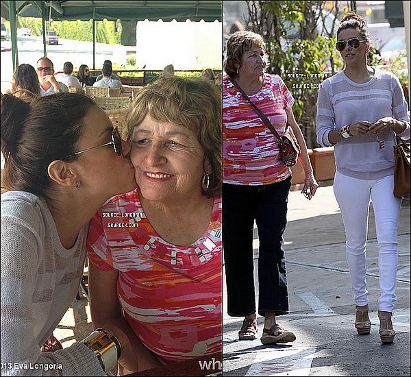 - 15/03/13: Pour le jour de son anniversaire , Eva est allée mangée au « Café Med »avec sa maman à L.A. -