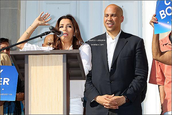 - 12/08/13: Eva  , était présente à une conférence de presse , ou elle a fait un petit discourt dans le New Jersey. -