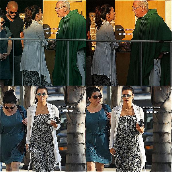- 18/08/13 : Eva accompagné de son ami Amaury (acteur Prison Break) , ils se sont rendu dans une église à L.A -