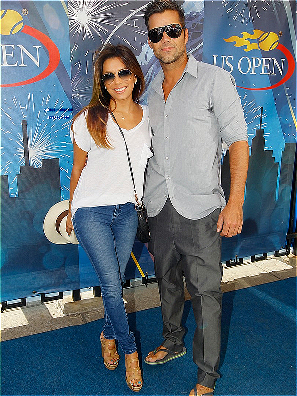 - 08/09/13 : Eva à encouragée son amie Serena Williams la finale de l'US Open 2013 avec le beau Ricky Martin. -