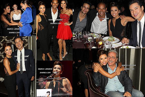 - 24/19/13:Eva  accompagnée de tous ses amis était présent à l'évenement « Padres Contra El Cancer» à L.A.  -