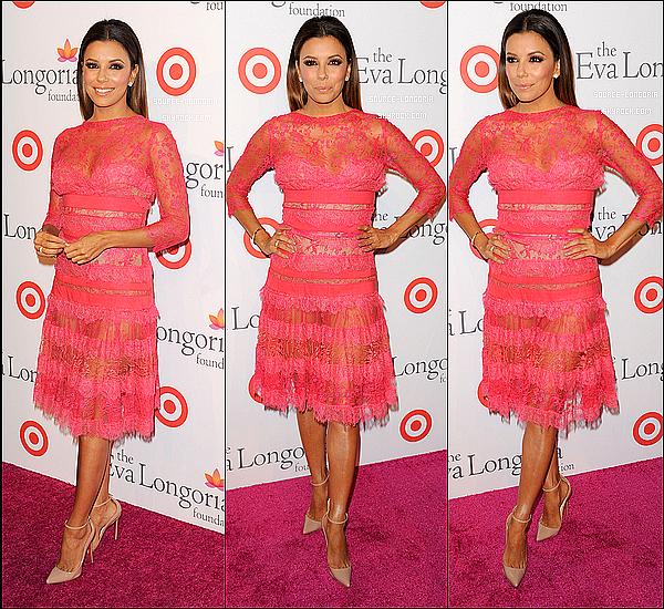 - 28/09/13 : Eva s'est rendu au dîner de sa propre association  «Eva Longoria Foundation» à son restaurant à L.A. -
