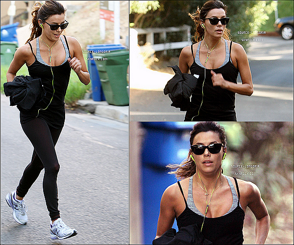 - 29/10/13 : Eva faisant du sport autour de chez elle , puis le soir elle est allée dîner avec ses amis à Los Angeles. -