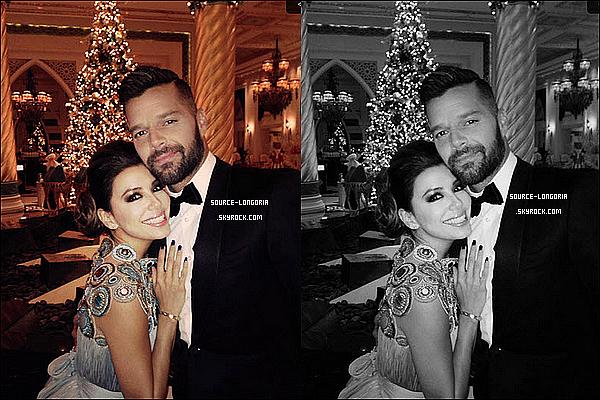 - 14/12/13: Eva était  présente au « Gobal Gift Gala » qui s'est déroulé à Dubaï elle était accompagnée de ses amis. -