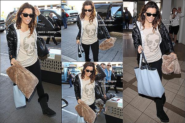 - 05/01/13: Eva à l'aéroport de LAX pour prendre un vol pour tourner la deuxième saison de  Devious Maids . -