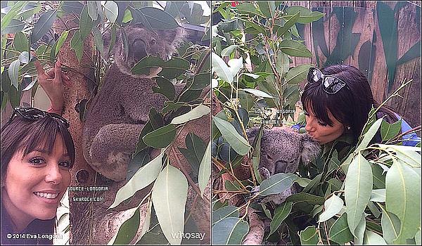 """- 21/03/14: Eva Longoria a été aperçu au centre historique de Sydney le """"Circular Quay"""" En Australie. -"""