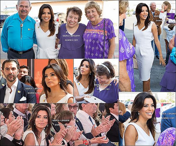 - 30/10/2014 : Eva s'est rendue à l'ouverture d'un  nouvel hôpital de réadaptation pour les enfants, à San Antonio.Comme on peut voit sur les photos Eva est accompagnées de sa famille et son chéri, elle est resplendissante juste parfaite ♥ ♥ .  -