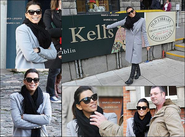 - 02/11/2014 : Eva a était vue dans les rues de Dublin, elle a pris le temps de poser et discuter avec ses fans. -