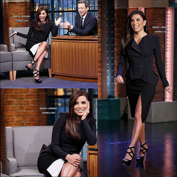 - 06/11/2014: Eva  plus belle que jamais  était invitée à l'émission « Late Night With Seth Meyers » à Los Angeles  -
