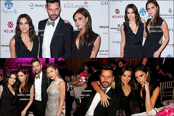 - 17/11/2014 : Eva Longoria présente lors de la 5e édition du  « Global Gift Gala »  à Londres avec ses amis. -