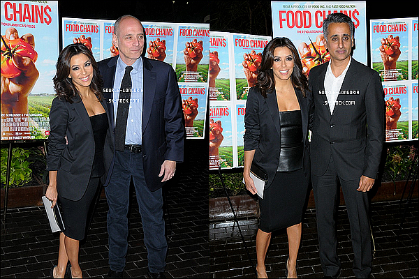 - 18/11/2014:La belle Eva Longoria présente à l'avant première du documentaire «Food Chains» à New York. -