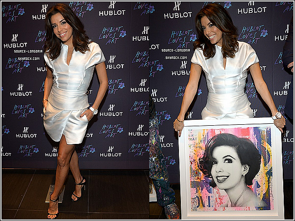 "- 05/12/14: Eva était à l'évènement ""Hublot Art Basel"" puis à l'after Party à Miami. -"