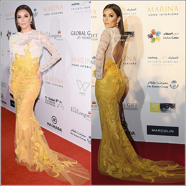 - 14/12/14 : Eva Longoria plus jolie que jamais était au «The Global Gift Gala» à Dubaï. -
