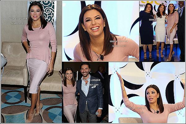 - 22/01/15: Eva et son chéri se sont rendus à une conférence  réservé aux professionnels de la télévision à  Miami. -