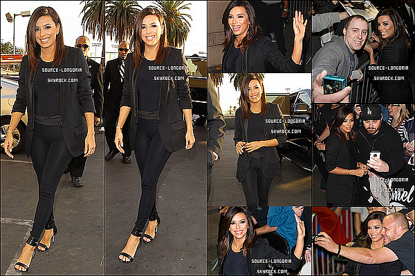 - 02/02//14 : Plus belle que jamais Eva Longoria se rendant au plateau télévisé Jimmy Kimmel Live à Hollywood ♥. -